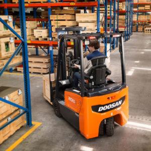 Doosan Electric Cushion/Pneumatic Forklift 3,000 - 4,000 Capacity